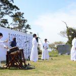 山田神社植樹祭 新作神楽「ふくしま未来神楽 第一番「白はだし」」を奉納