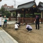 福島稲荷神社のお掃除をしました